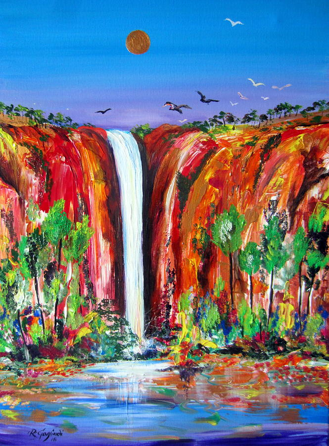 Outback Water Fall Australia by Roberto Gagliardi