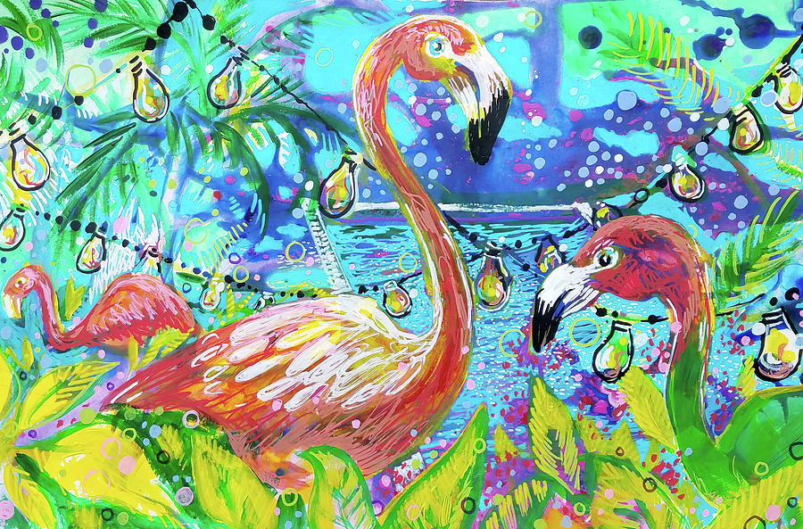 Outdoor flamingo party by Tilly Strauss