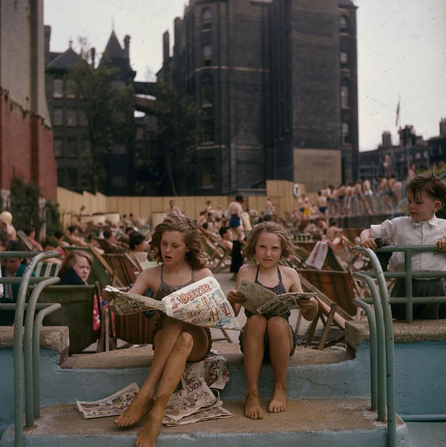 Outdoor Pool Photograph by Hulton Archive