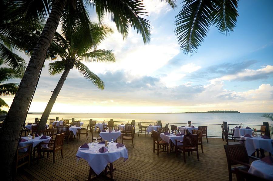 Outdoor Resort Beach Restaurant At Photograph by Courtneyk