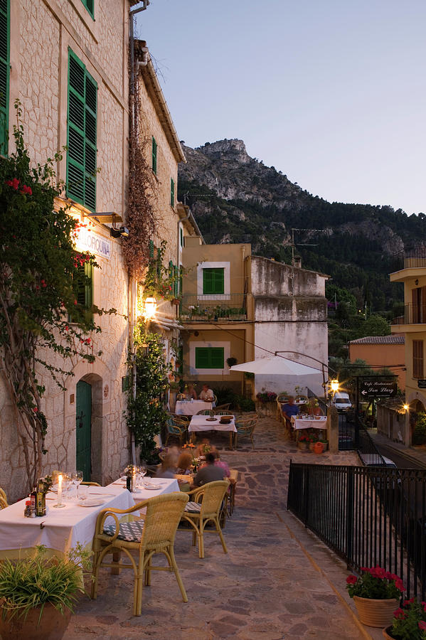 Outdoor Seating At Son Llarg Restaurant Photograph by Holger Leue