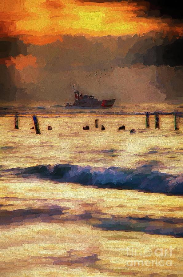 Outer Banks Fishing Boat at Sunrise AP by Dan Carmichael