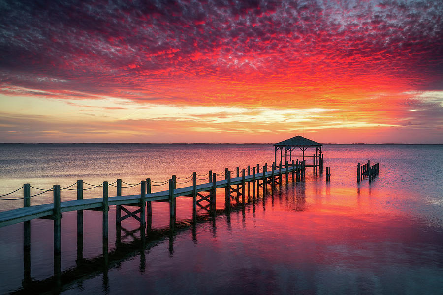 Outer Banks North Carolina Sunset Seascape Photography Duck NC by Dave Allen