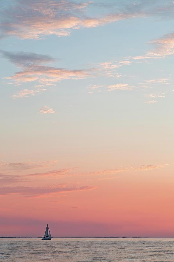 Outer Banks Sailboat Sunset by Nathan Bush
