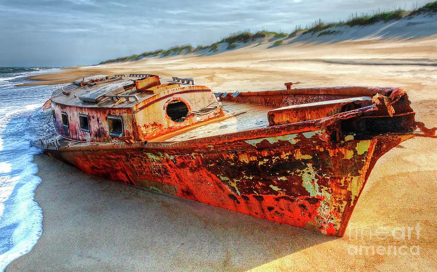 Outer Banks Shipwreck by Dan Carmichael