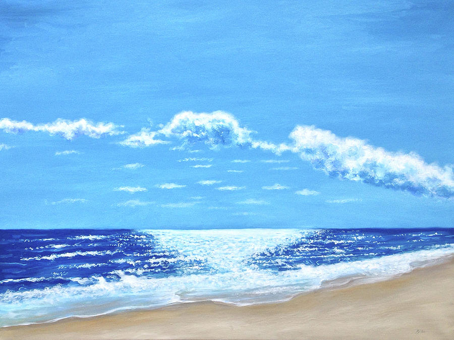 Oil Painting - Outer Banks Sunny Skies by Billie Mann