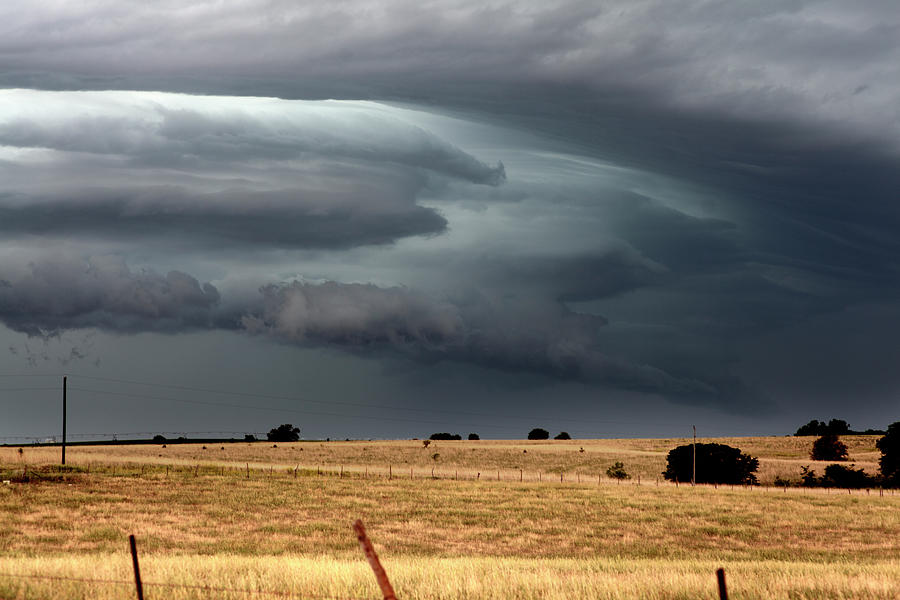 Outflow Boundary Tearing Across The Photograph by Loren M Rye