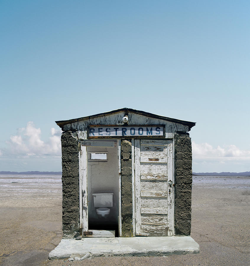 Outhouse Photograph - Outhouse On Beach, Close-up by Ed Freeman