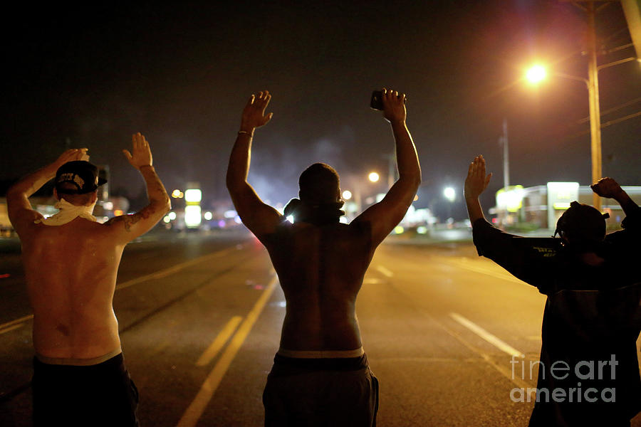Outrage In Missouri Town After Police Photograph by Joe Raedle