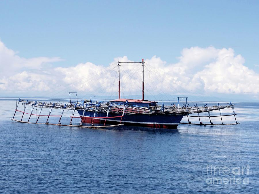 Nobody Photograph - Outrigger Fishing Platform by Sinclair Stammers/science Photo Library