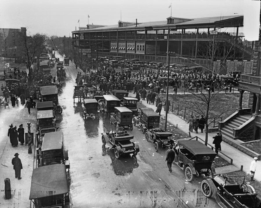Outside Wrigley Field Photograph by Chicago History Museum