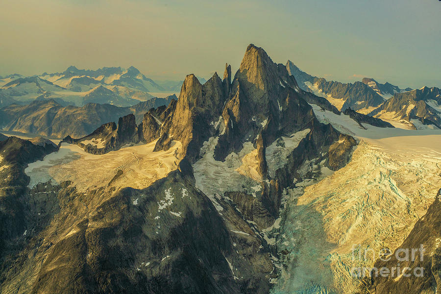 Over Alaska Devils Thumb Peak At Dusk Photograph