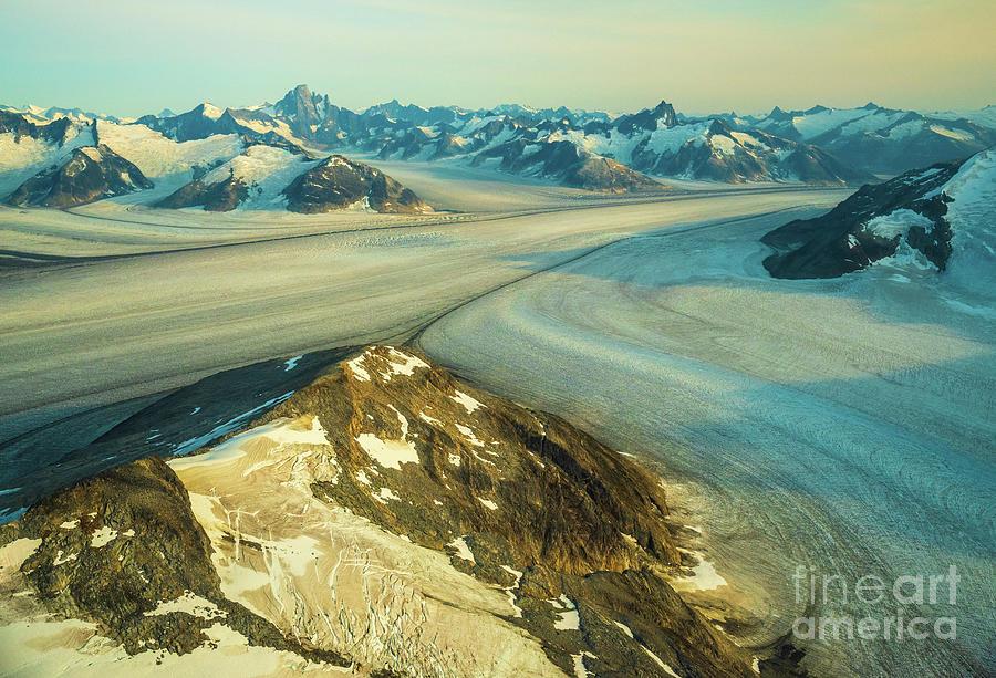 Over Alaska Peaceful Dusk Light On The Baird Glacier Photograph