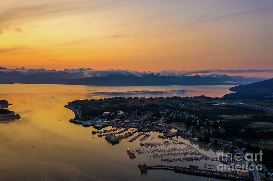Over Alaska Petersburg Alaska Dawn Light Photograph