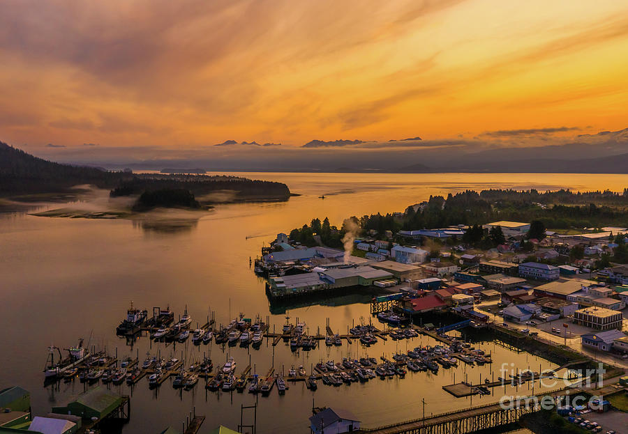 Over Petersburg Southeast Alaska Sunrise Photograph