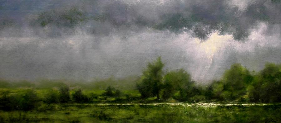 Landscapes Painting - Overcast Day at the Refuge by Jim Gola