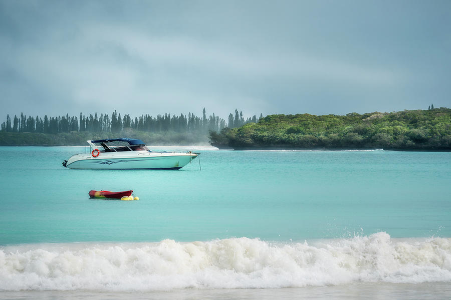 Overcast morning at Kuto Bay on Isle of Pines by Daniela Constantinescu