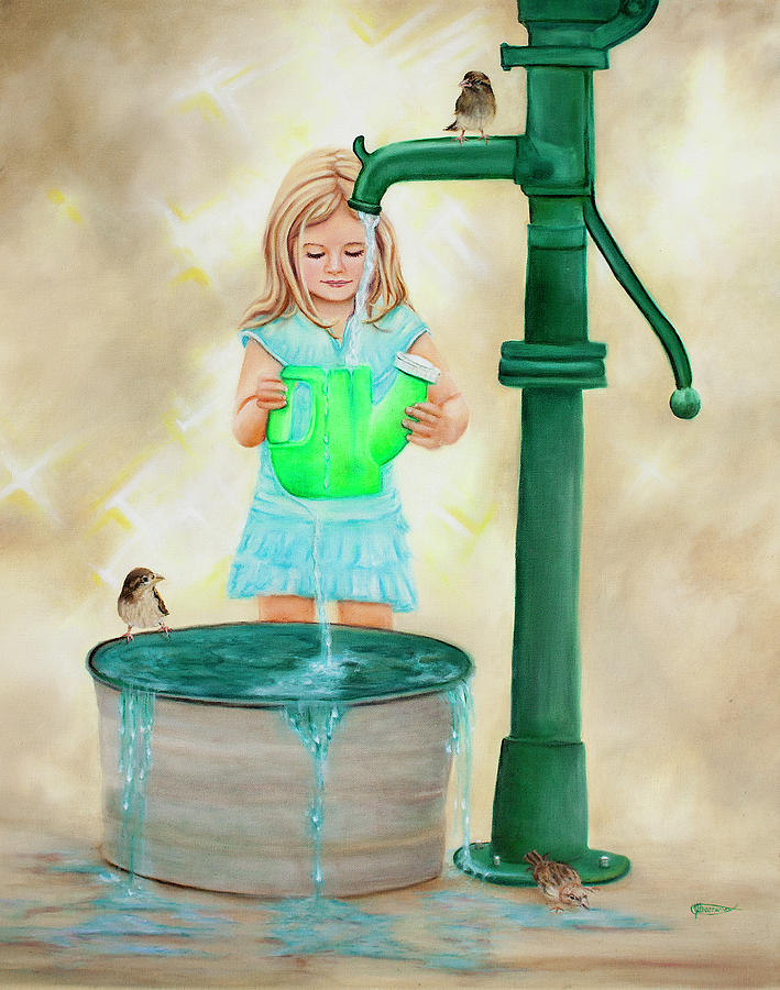 Little Girl Photograph - Overflow by Jeanette Sthamann