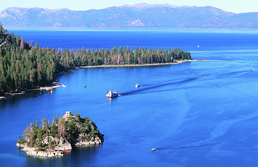 Overhead Of Emerald Bay, Lake Tahoe Photograph by Thomas Winz