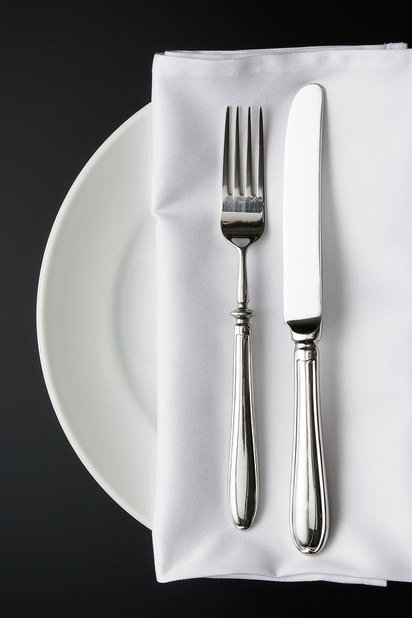 Overhead Shot Of Place Setting On The Photograph by Kyoshino