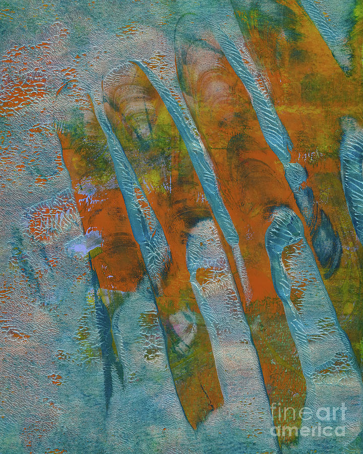 Abstract Painting - Overlapping Hands by Laura L Leatherwood