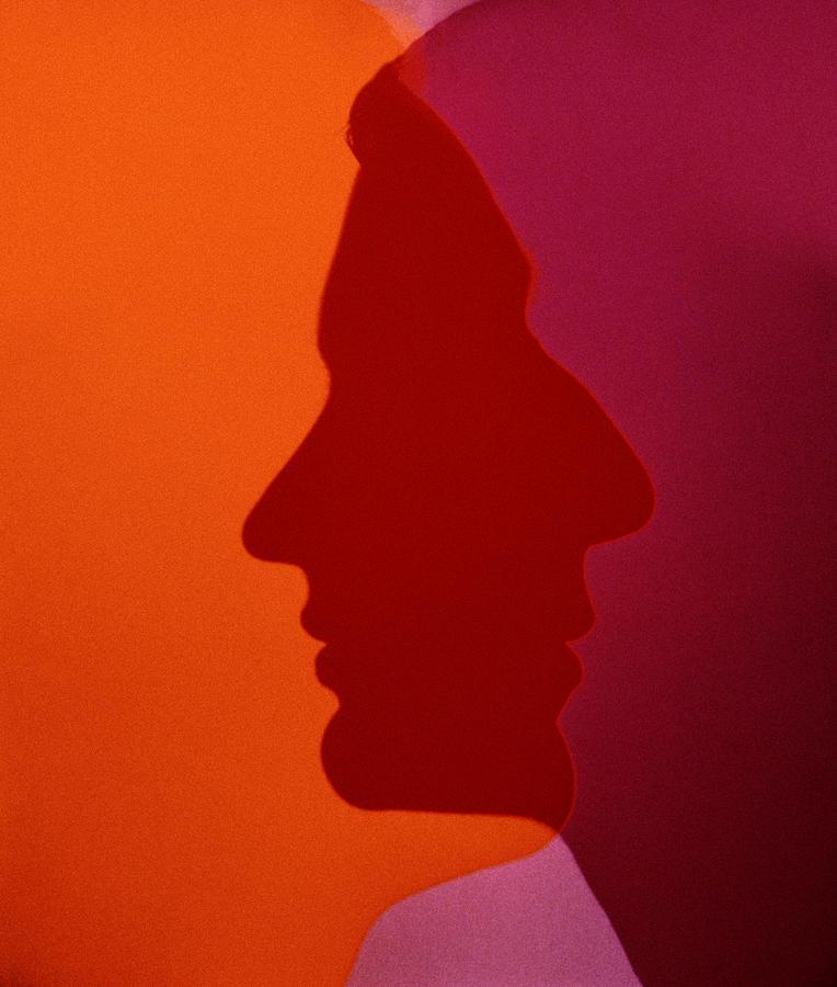 Overlapping Silhouette Profiles Photograph by Tim Platt