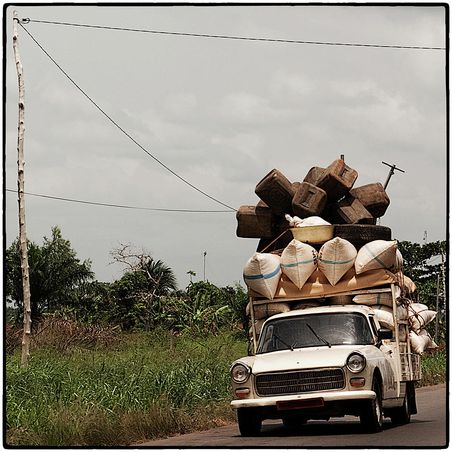Overloaded Car Photograph by Rodriguez Art Work