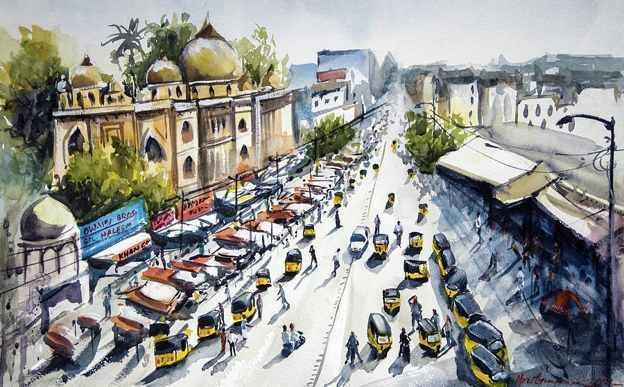 Overlooking Hyderabad Old City