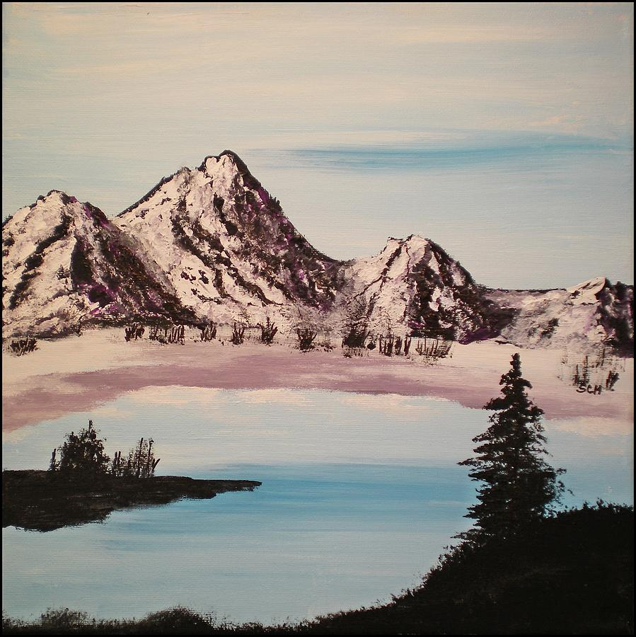 Abstract Painting - Overlooking The Lake by Scott Haley