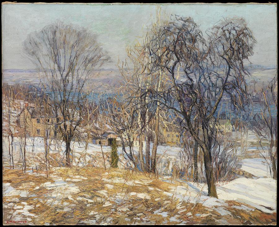 Edward Willis Redfield Painting - Overlooking The Valley  by Edward Willis Redfield