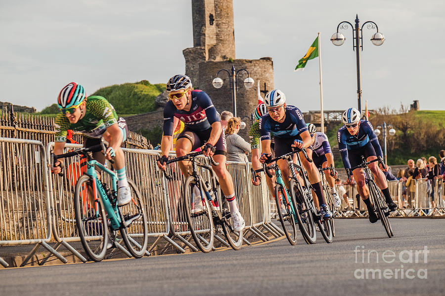Pro Tour Photograph - Ovo Energy Cycle Race In Aberystwyth by Keith Morris