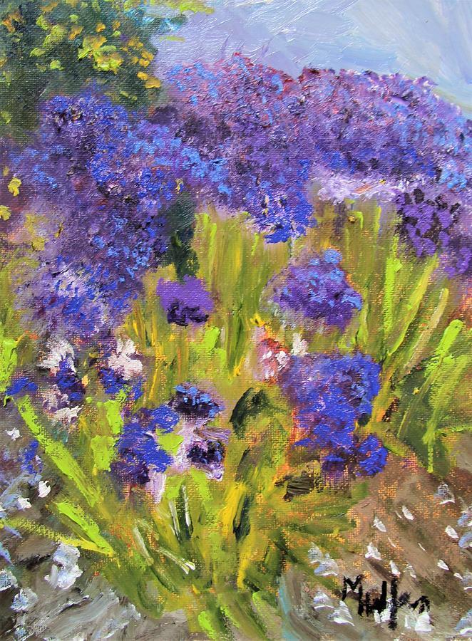 Ovrflowing Hydrangeas by Michael Helfen