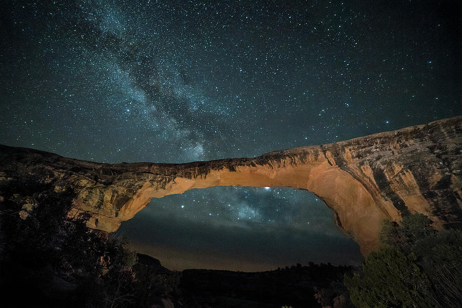 Owachomo Natural Bridge and Milky Way by James Capo
