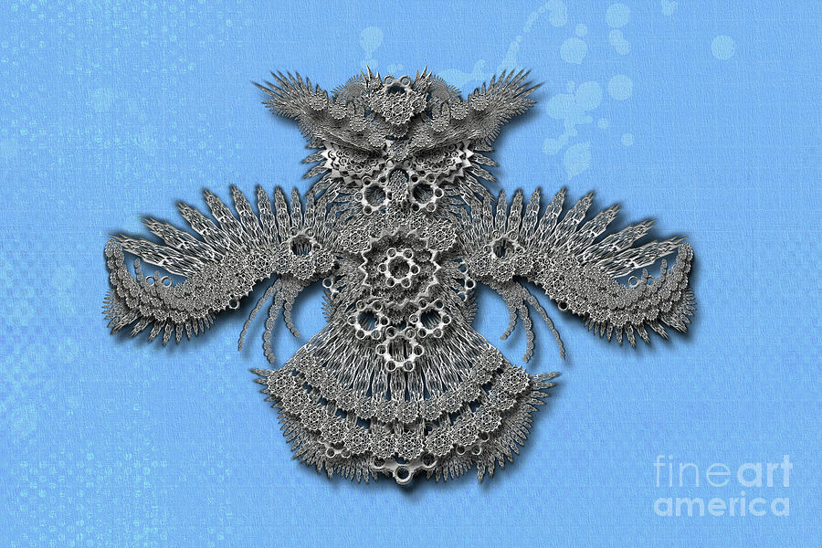 Owl blue background by Afrodita Ellerman