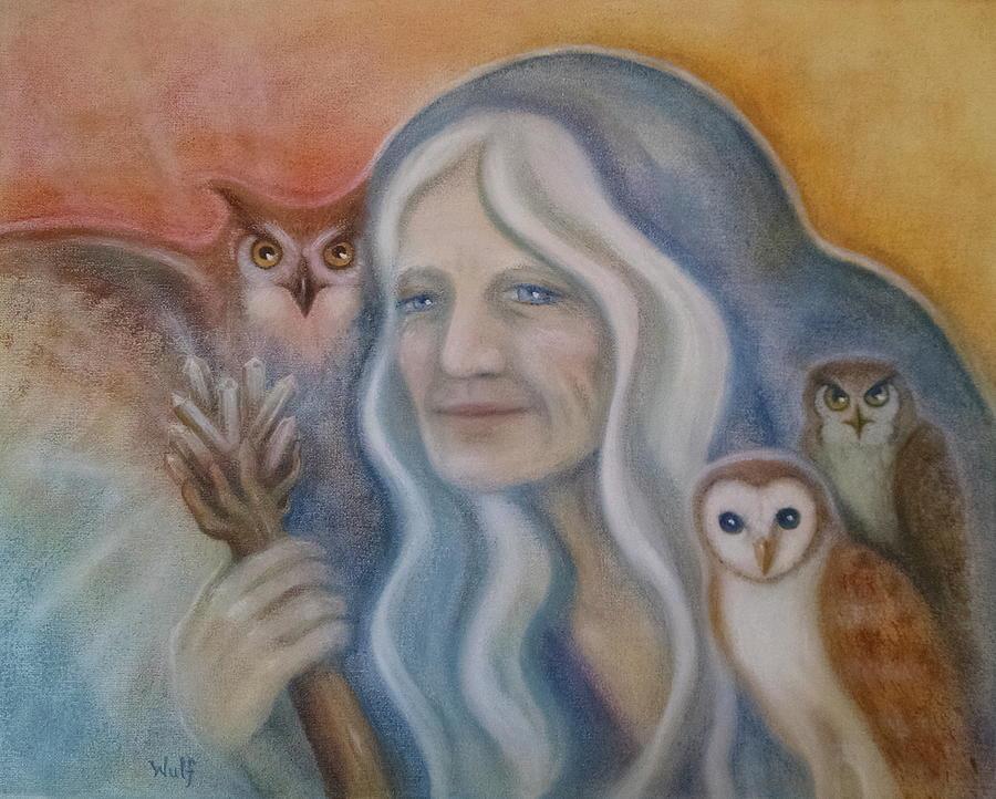 Owl Crone by Bernadette Wulf