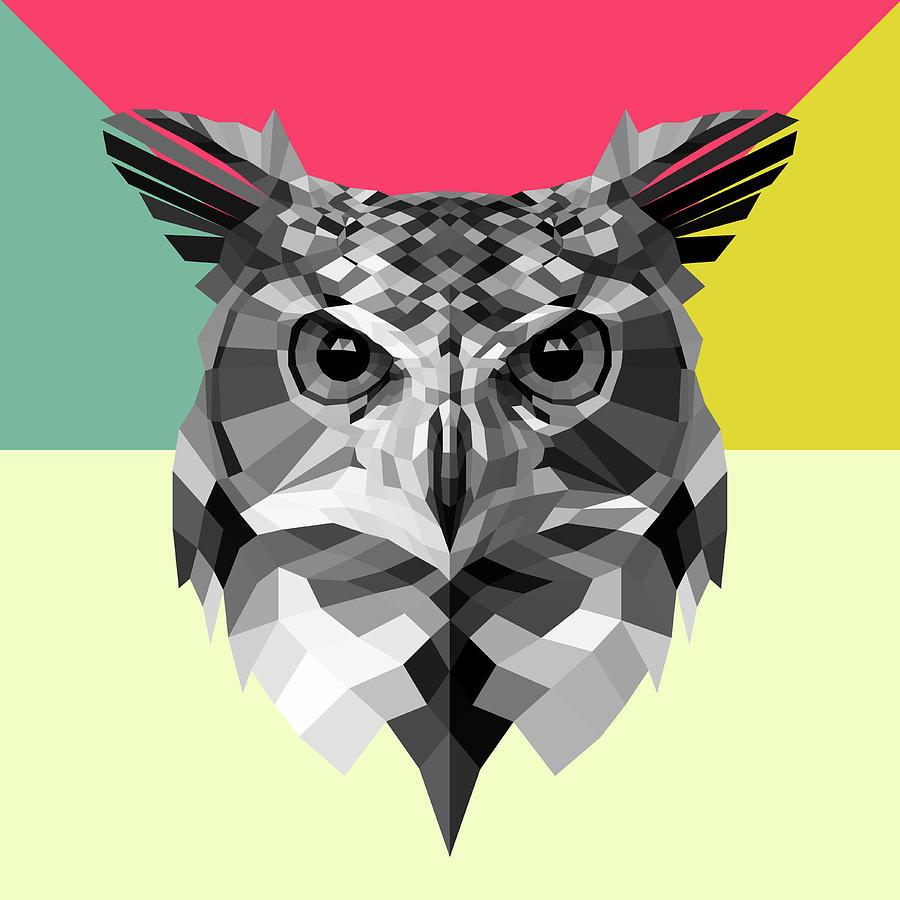Owl Digital Art - Owl by Naxart Studio