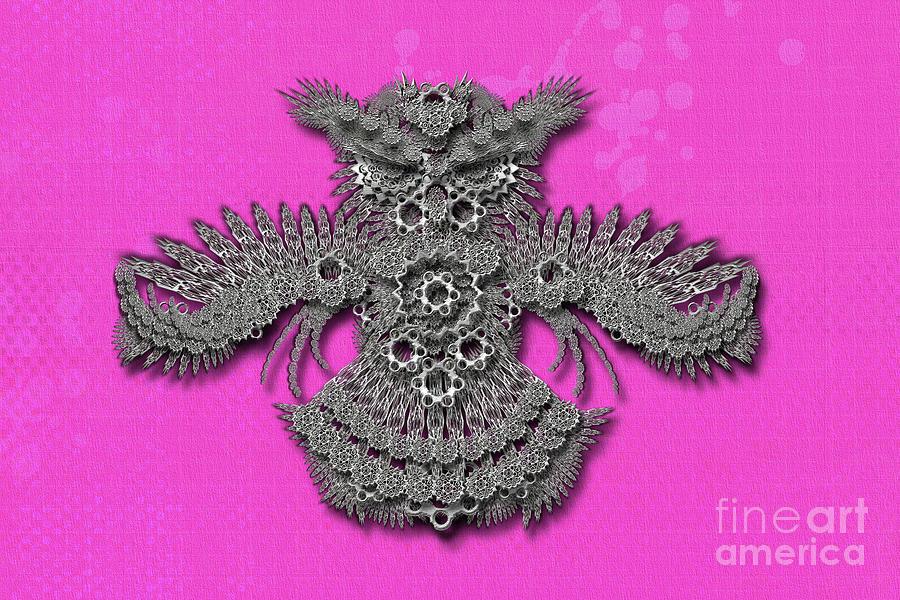 Owl pink background by Afrodita Ellerman