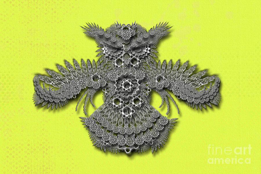 Owl yellow background by Afrodita Ellerman