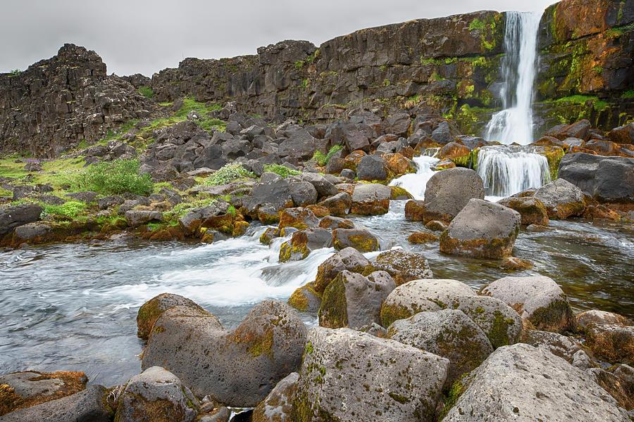 Oxararfoss Falls Iceland 6271901 by Rick Veldman