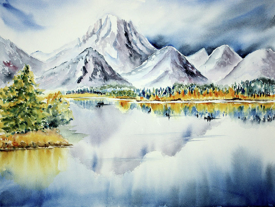 Oxbow Bend - Mountains, Lake, Reflection Photograph by By Doris Jung-rosu