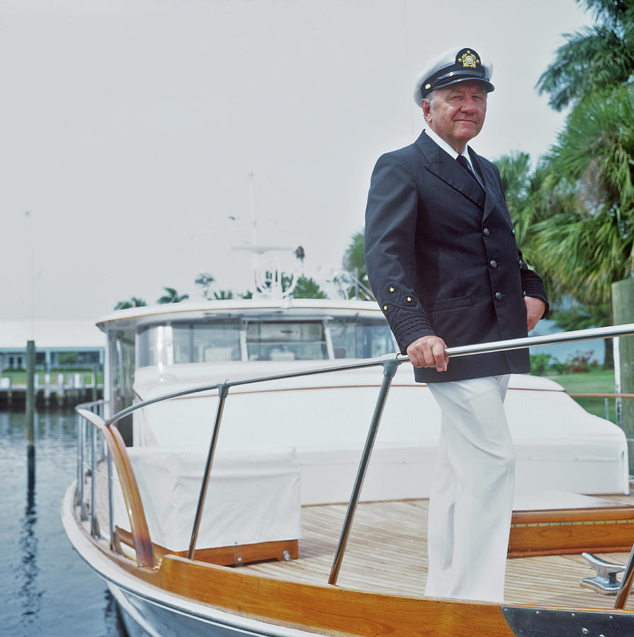 Oxley On Boat Photograph by Slim Aarons