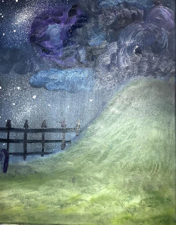 Painting Painting - Oyas Hill by Amanda Wilson