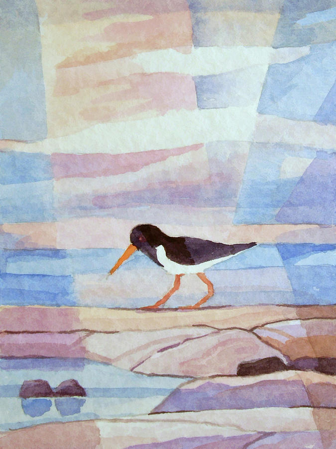 Oystercatcher Watercolor by Lutz Baar