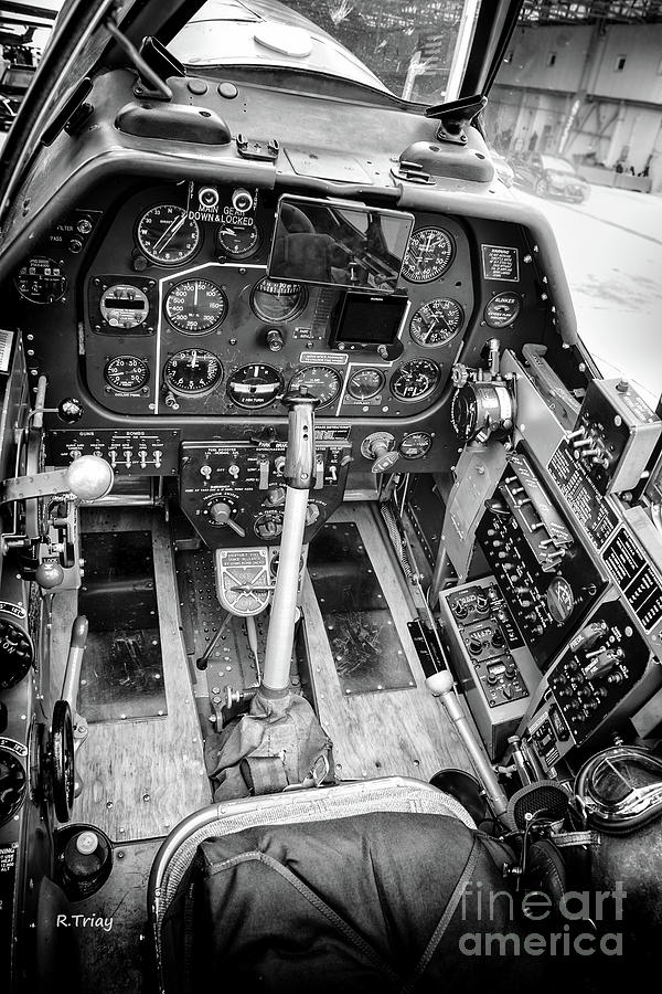 P-51 Mustang Cockpit  by Rene Triay Photography