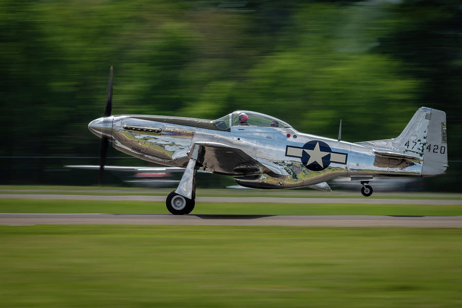 P-51 Mustang Takeoff by Todd Henson