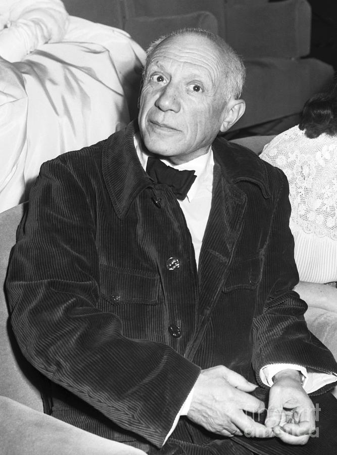 Pablo Picasso At Cannes Film Festival Photograph by Bettmann