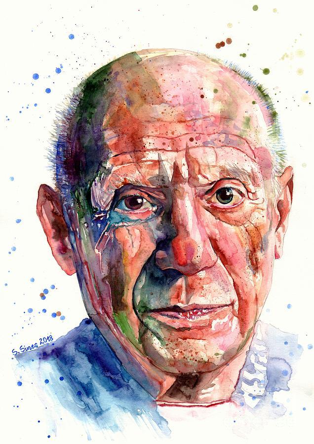 Pablo Painting - Pablo Picasso portrait by Suzann Sines
