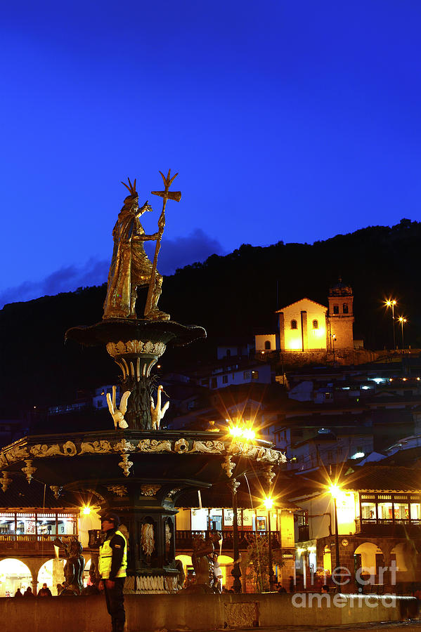 Pachacutec And Plaza De Armas Cusco Peru By James Brunker