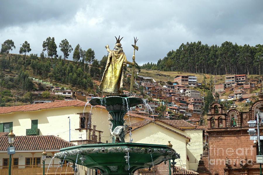 Pachacuti Statue in Cusco, Peru by Catherine Sherman