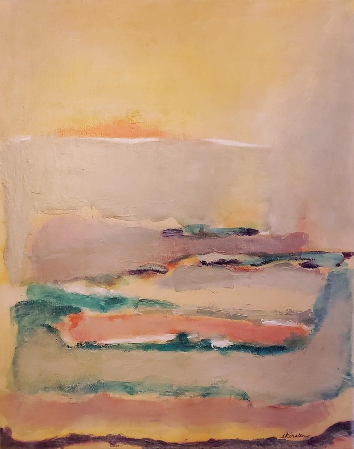 Abstract Mixed Media - Pacheco Pipeline by Ellen Kirwan